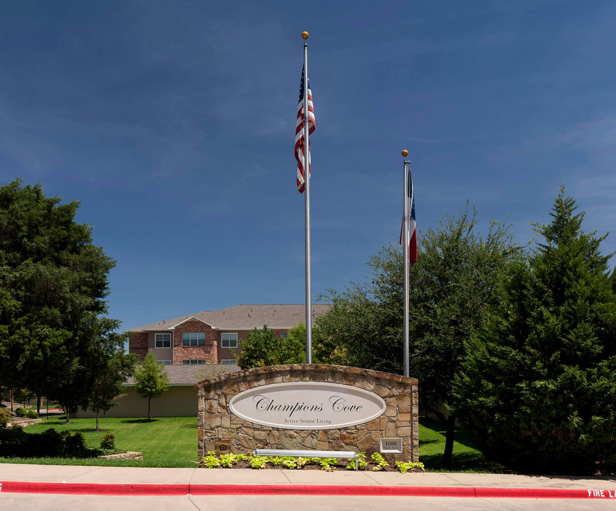 Welcome Signage at Champions Cove Apartments in Duncanville, TX