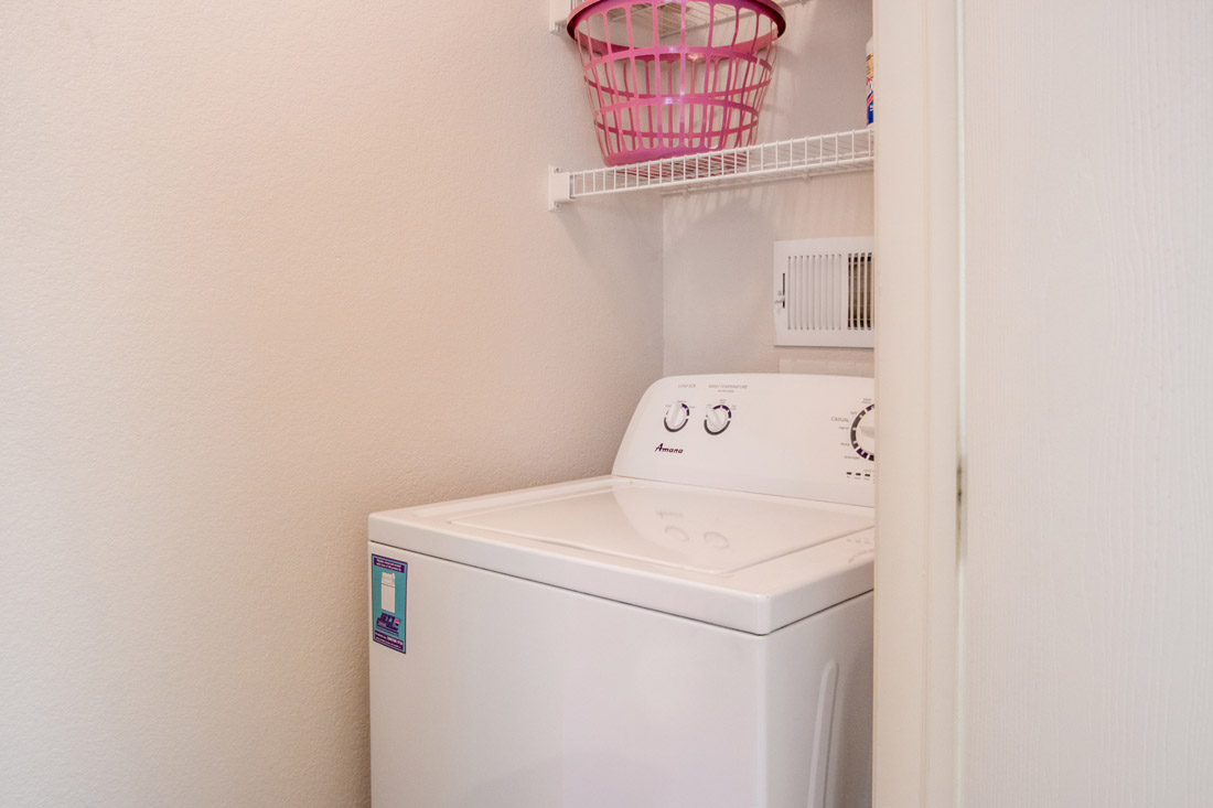 Full-Size Washer and Dryer Connections at Chapel Ridge of Johnston Apartments in Johnston, IA