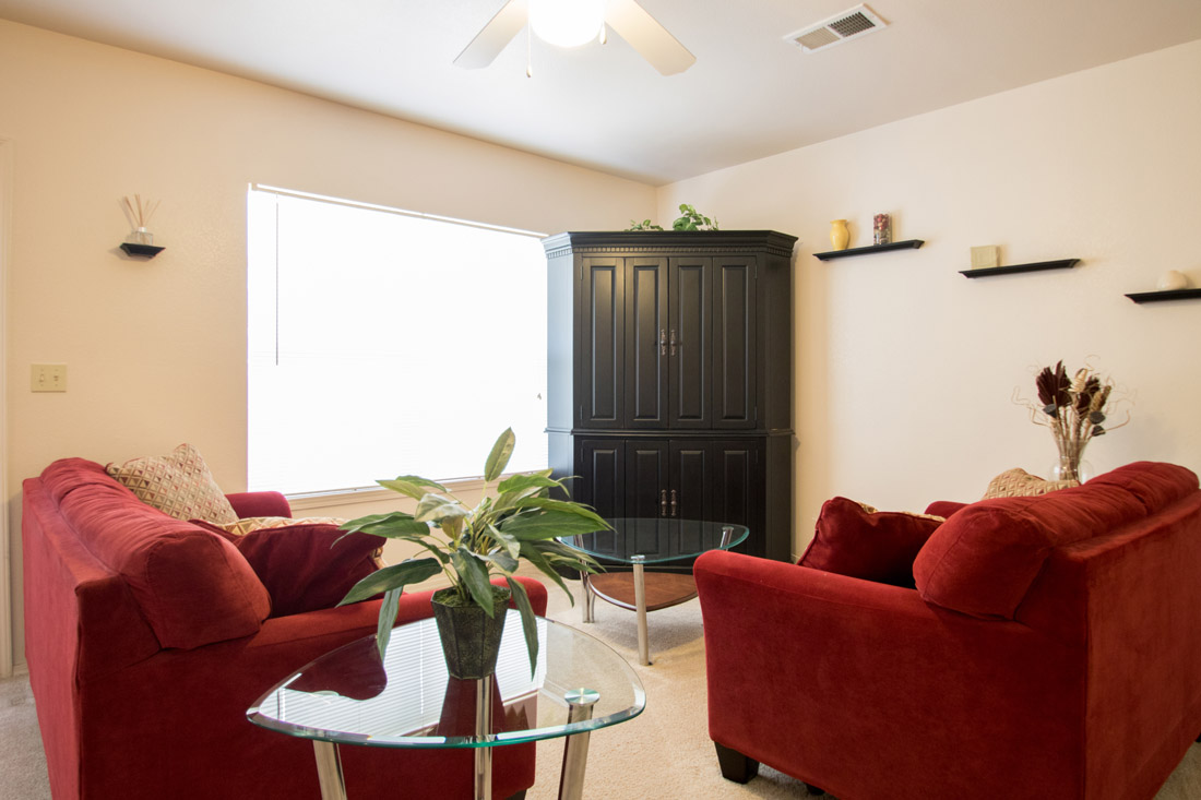Spacious Living Rooms at Chapel Ridge of Johnston Apartments in Johnston, IA