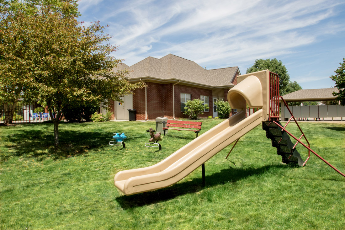 Children's Play Area at Chapel Ridge of Johnston Apartments in Johnston, IA