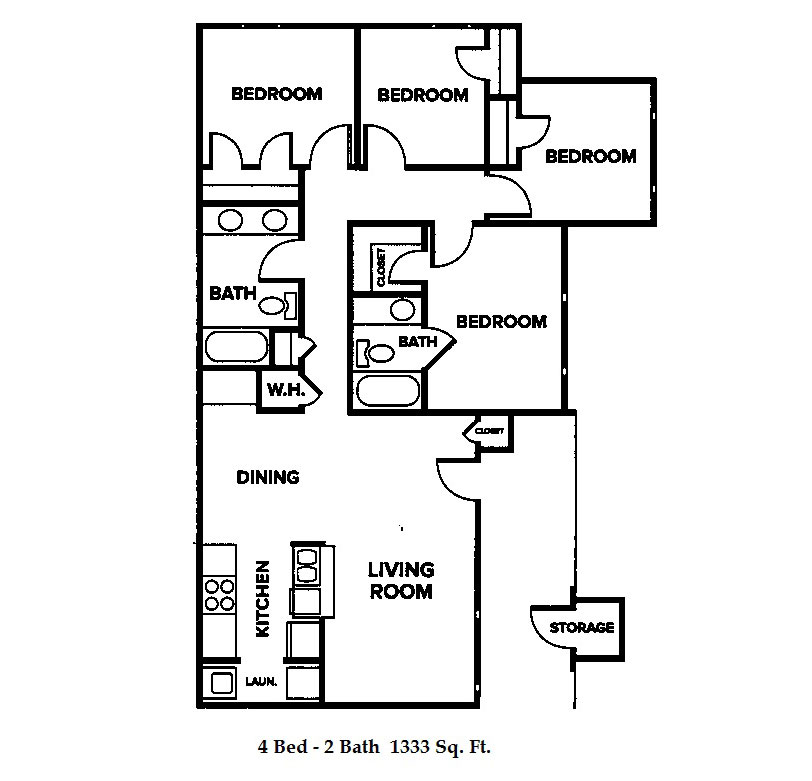 Chapel Ridge-C Bluffs - Floorplan - Four Bedroom