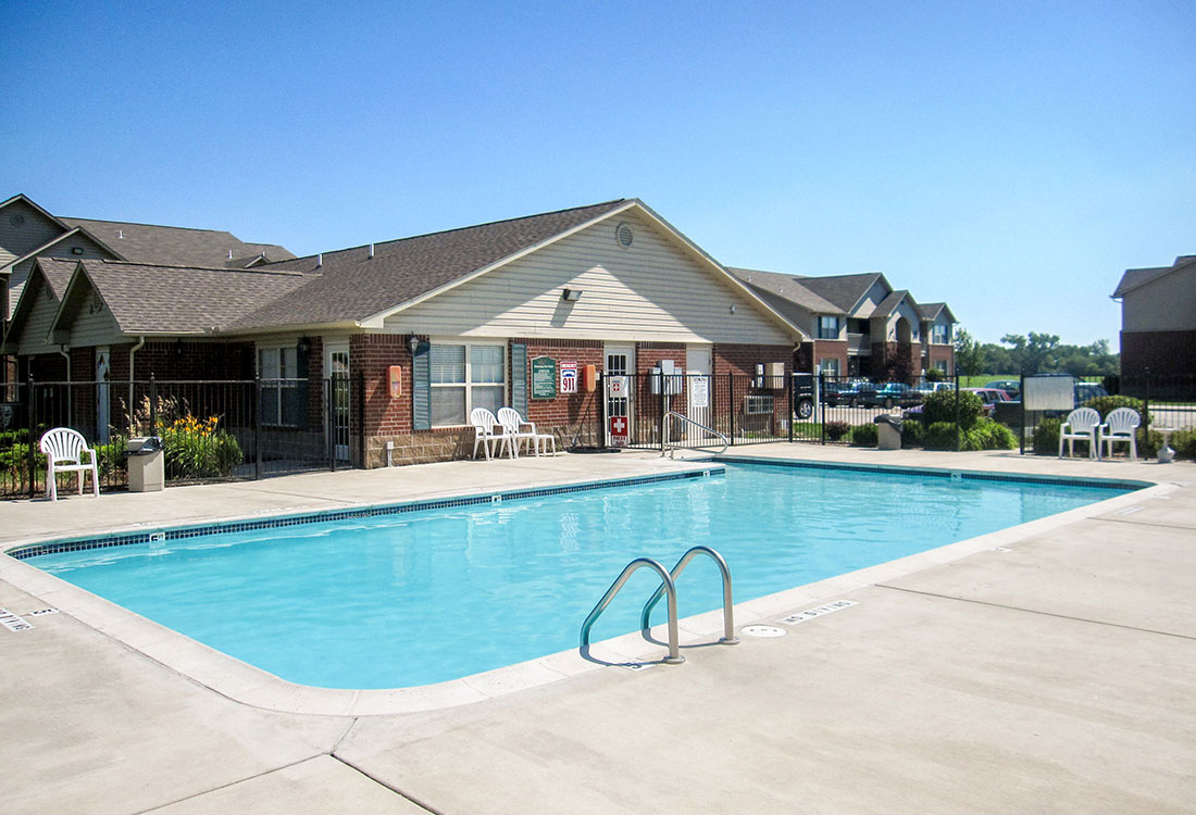 Outdoor Swimming Pool at Chapel Ridge of Council Bluffs Apartments in Council Bluffs, IA