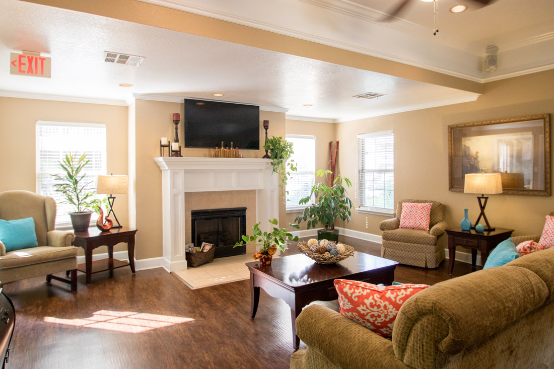 Wood-Burning Fireplace at Chapel Ridge of Marion Apartments in Marion, IA
