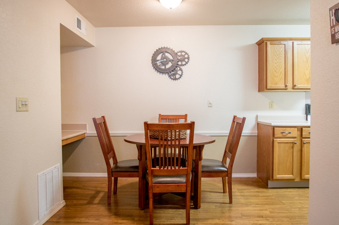 Eat-In Kitchen at Chapel Ridge of Marion Apartments in Marion, IA