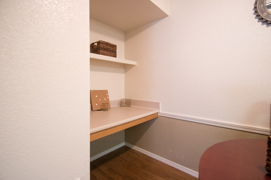 Built-In Shelving at Chapel Ridge of Marion Apartments in Marion, IA