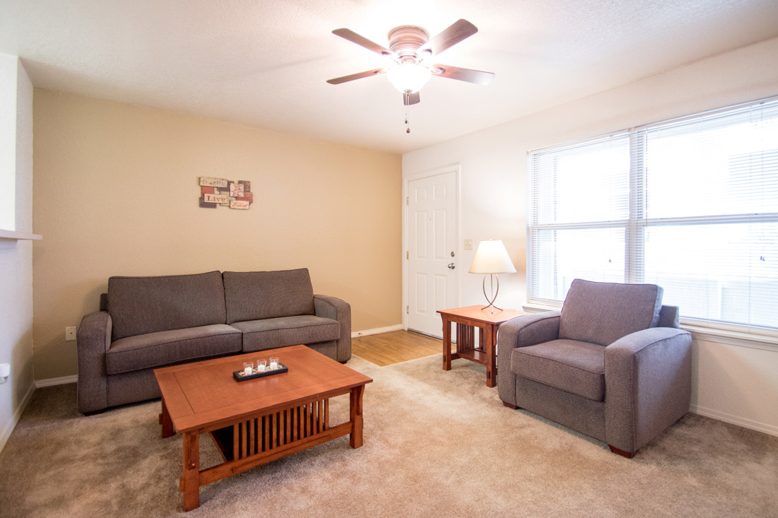 Spacious Living Rooms at Chapel Ridge of Marion Apartments in Marion, IA