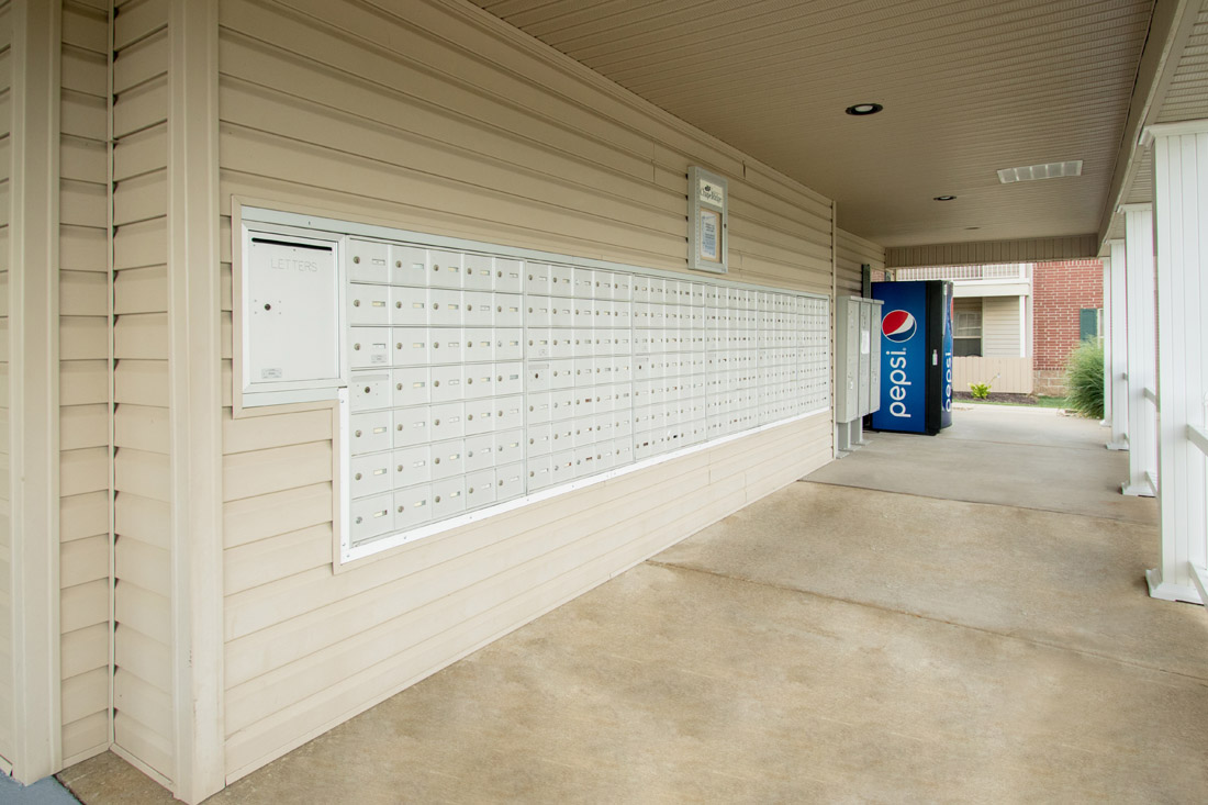 Mail Center with Snack Machines at Chapel Ridge of Marion Apartments in Marion, IA