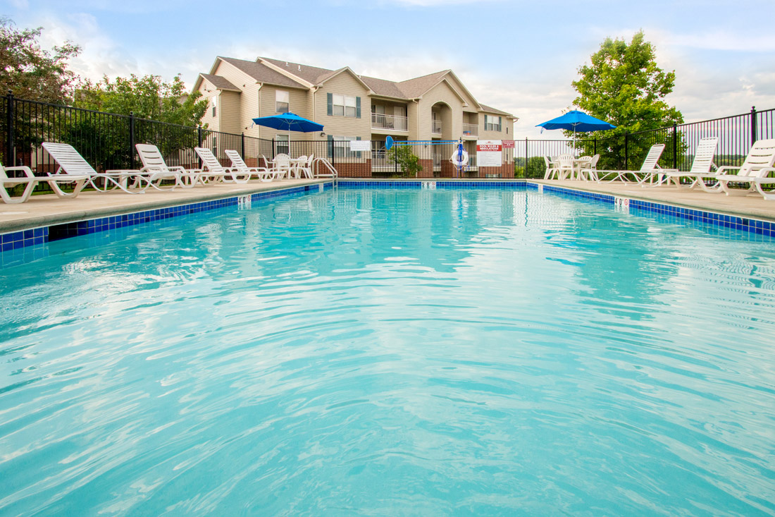 Resort-Style Swimming Pool at Chapel Ridge of Marion Apartments in Marion, IA