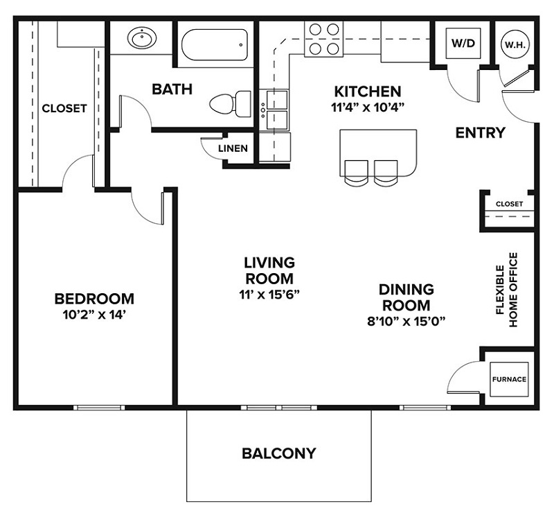 Château at Hillsborough - Floorplan - One Bedroom