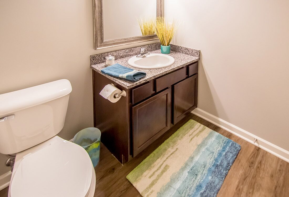 Spacious Bathrooms at Chateau at Hillsborough Apartments in Omaha, NE