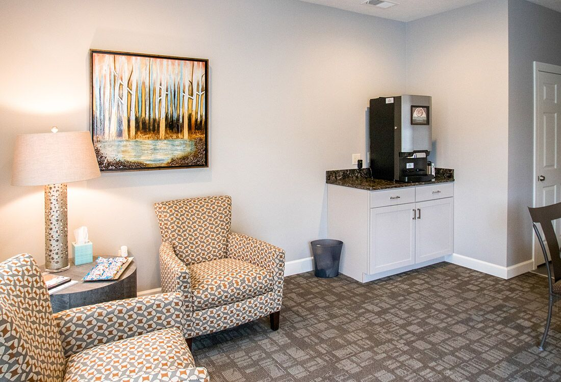 Complimentary Coffee Bar at Chateau at Hillsborough Apartments in Omaha, NE