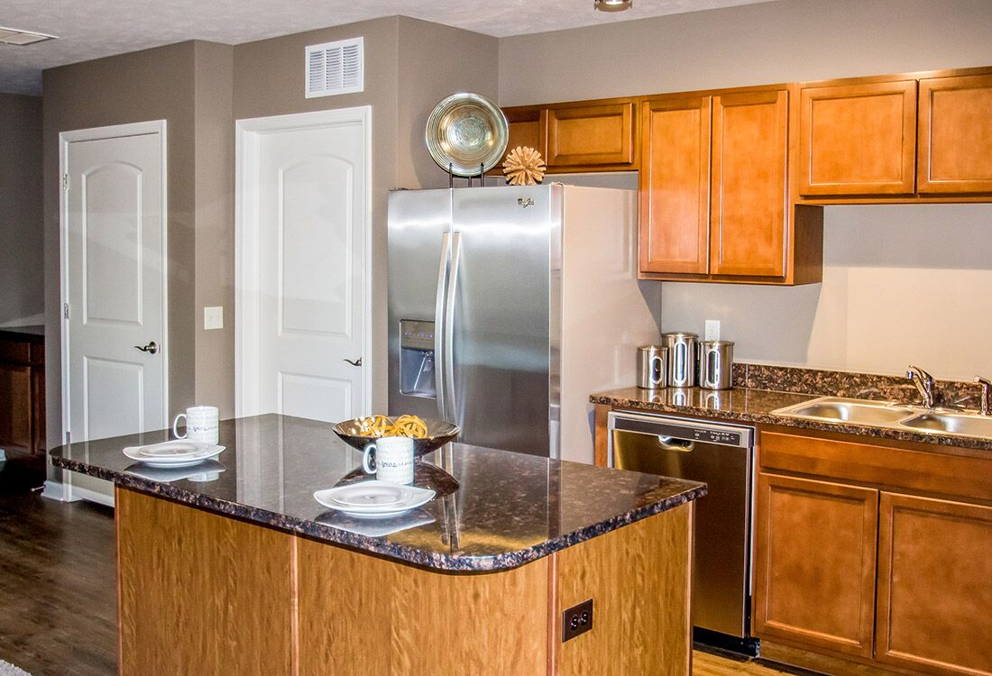 Fully-Equipped Kitchens at Chateau at Hillsborough Apartments in Omaha, NE