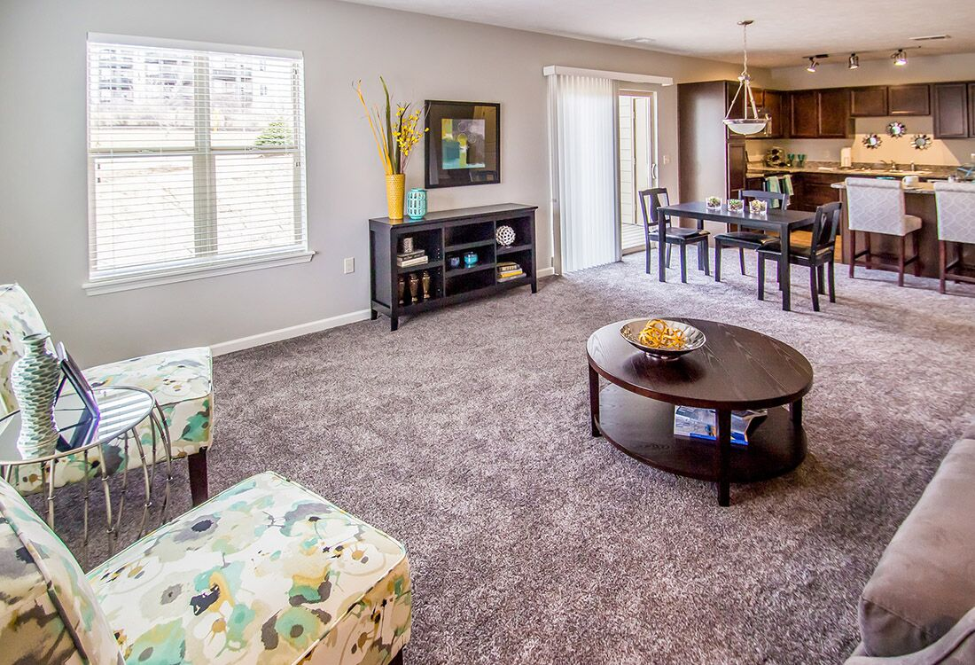 Plush Carpeting at Chateau at Hillsborough Apartments in Omaha, NE