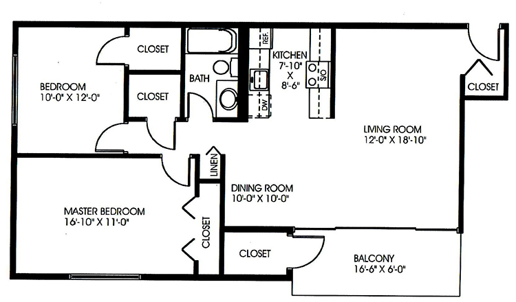 Floorplan - 2 Bedroom - A image