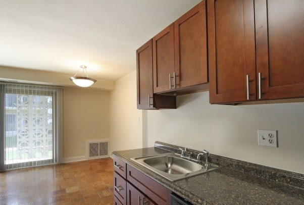 Kitchen Area at the Chelsea Park Apartments in Gaithersburg, MD