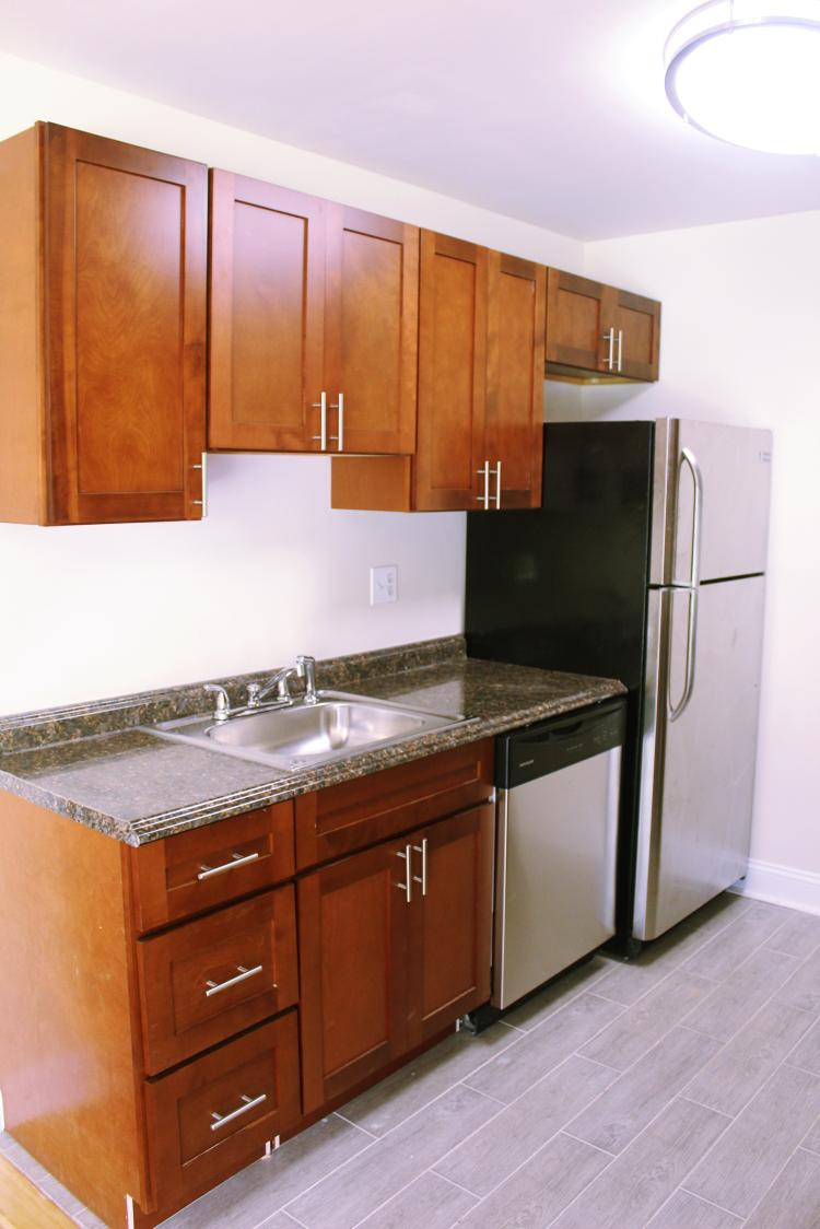 Kitchen Interior at the Chelsea Park Apartments in Gaithersburg, MD