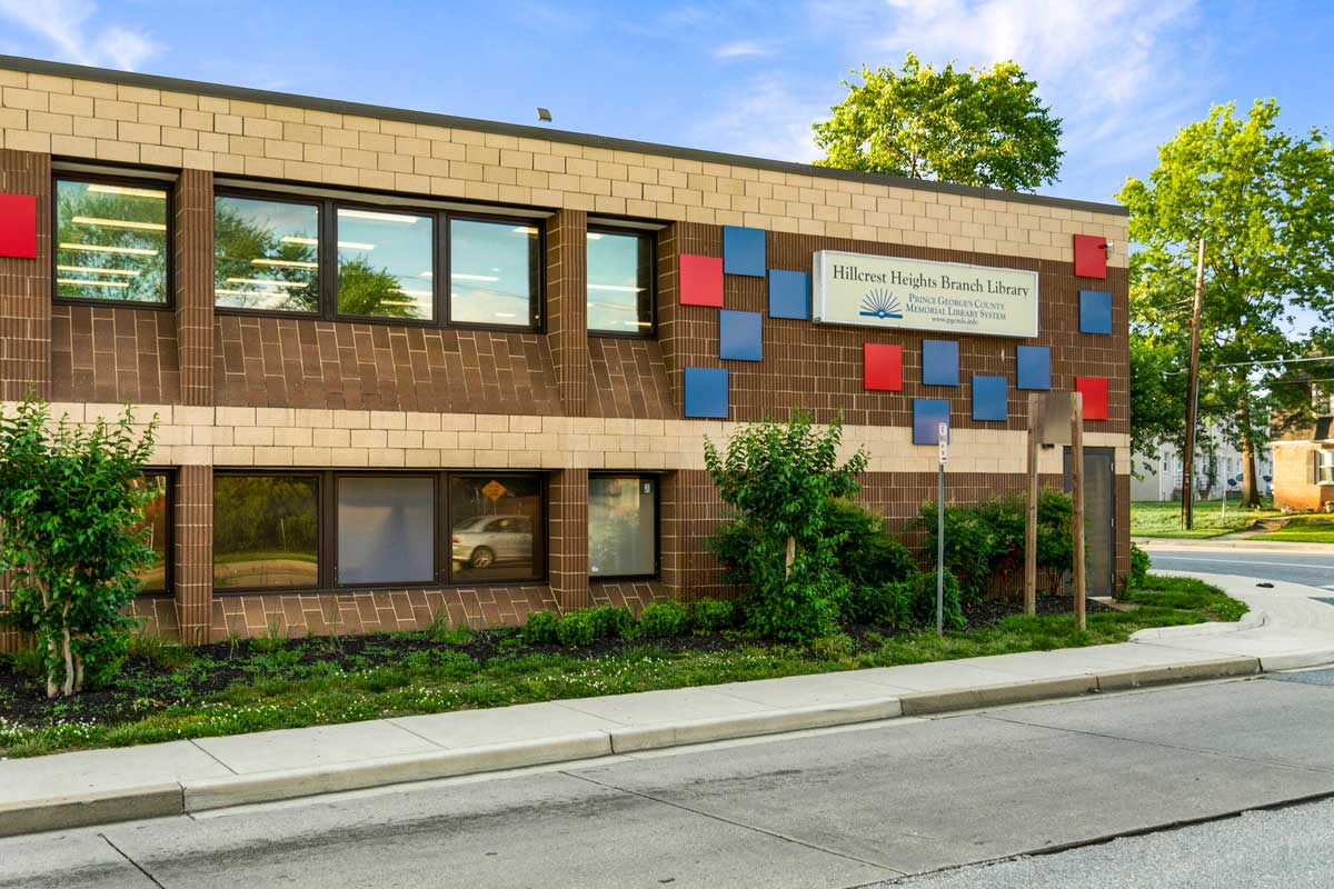 Walking distance to Hillcrest Heights Branch Library