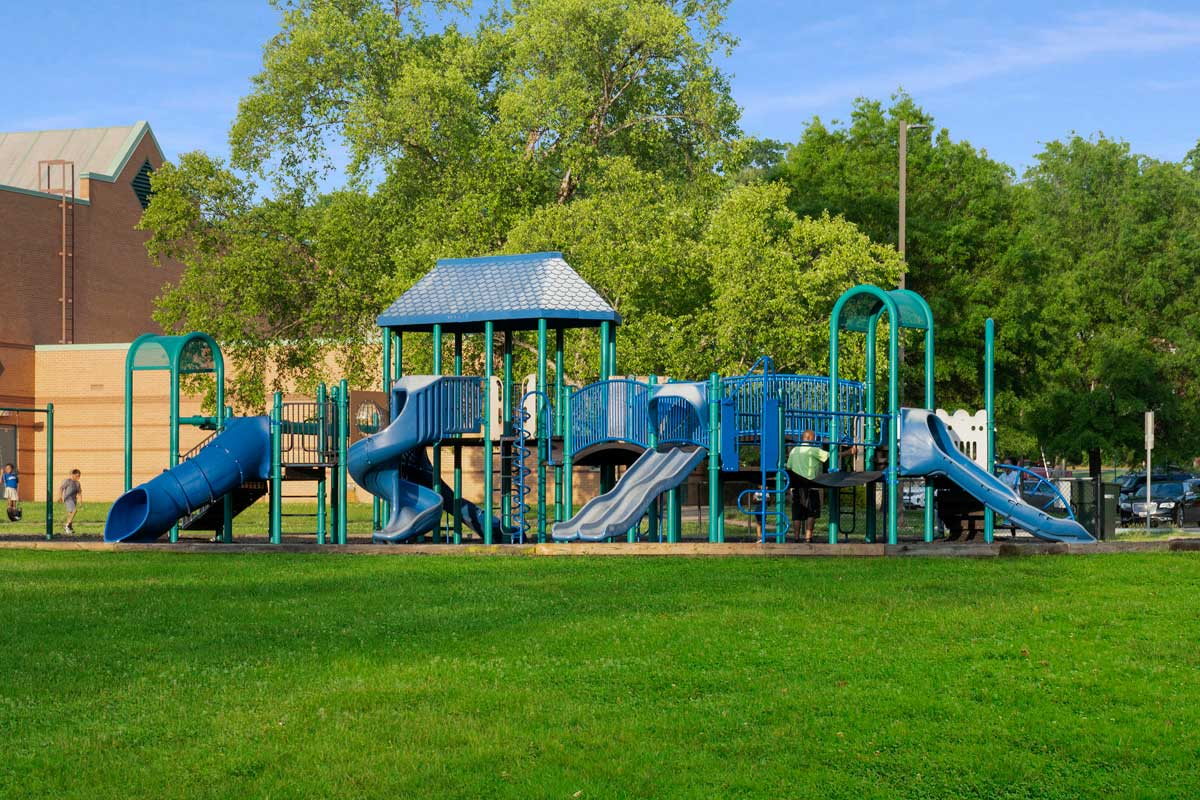 Play area at Hillcrest Heights Community Center in Temple Hills, MD
