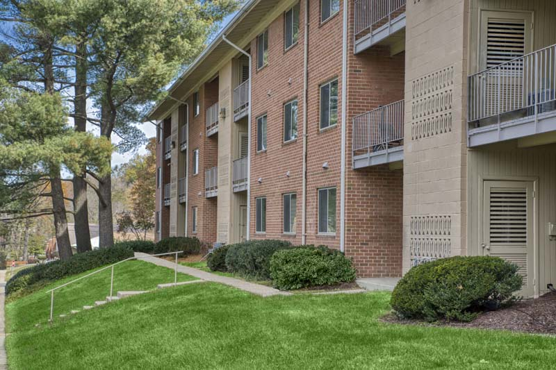 Covered balconies and patios at Chestnut Hill Apartments in Temple Hills, MD