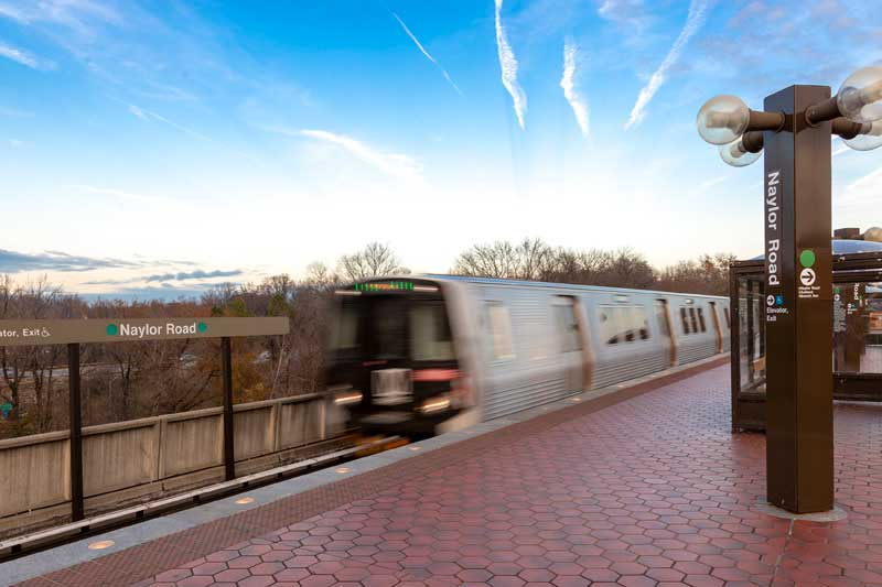 Naylor Road Metro station is 5 minutes from Chestnut Hill Apartments