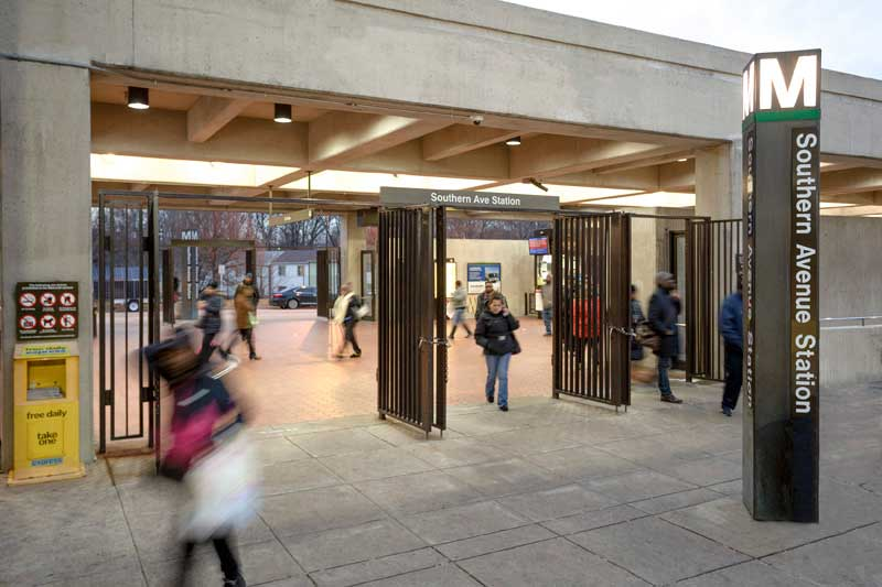 Southern Avenue Metro Station is 5 minutes from Chestnut Hill Apartments