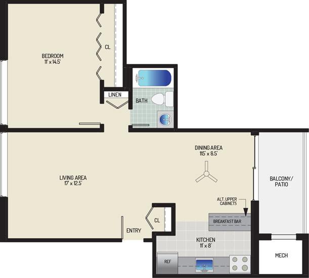 Chestnut Hill Apartments - Apartment 454020-11-B1