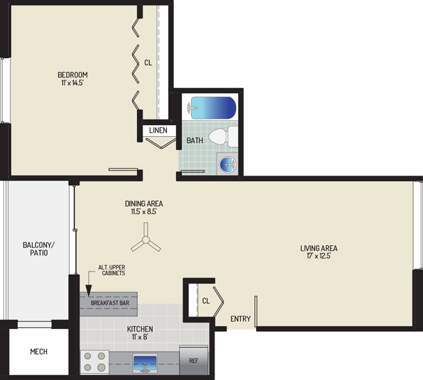 Chestnut Hill Apartments - Apartment 454013-32-B2