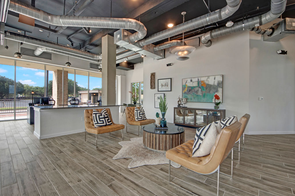 Clubhouse at City Square Lofts Apartments in Garland, TX
