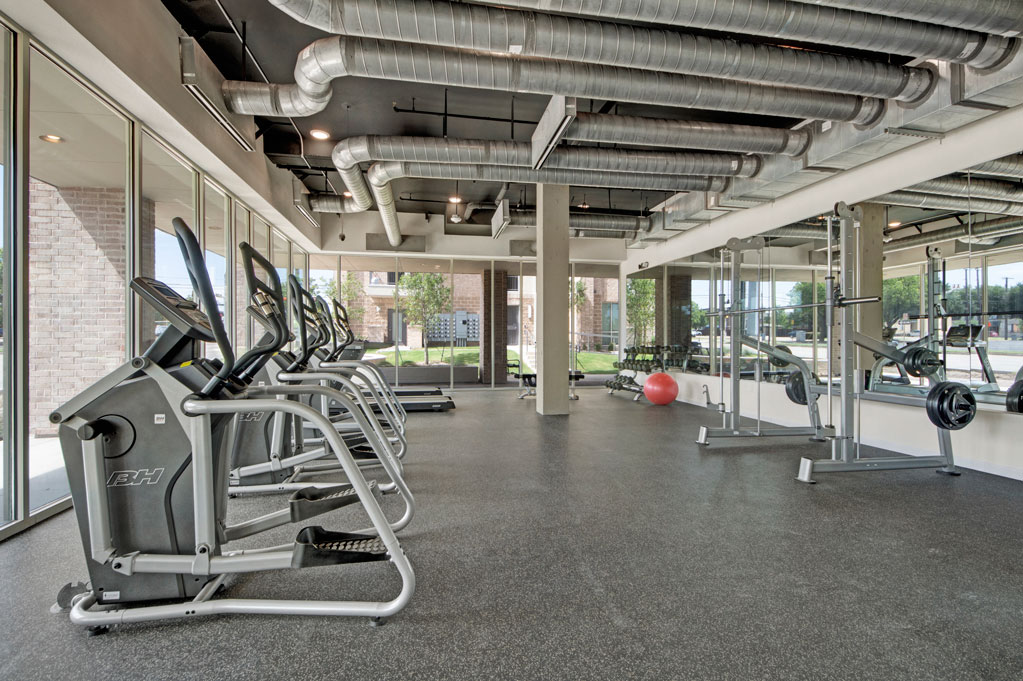 Fitness Center at City Square Lofts Apartments in Garland, TX