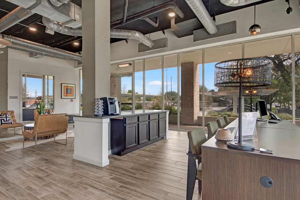Exclusive Clubhouse at City Square Lofts Apartments in Garland, TX