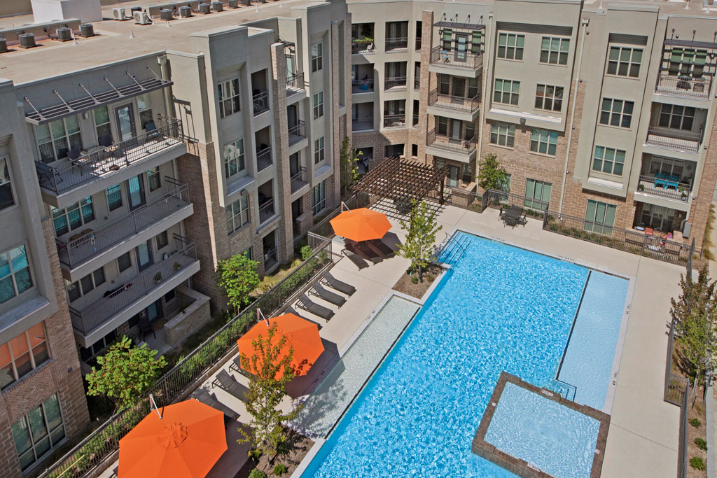 Resort Style Pool at City Square Lofts Apartments in Garland, TX