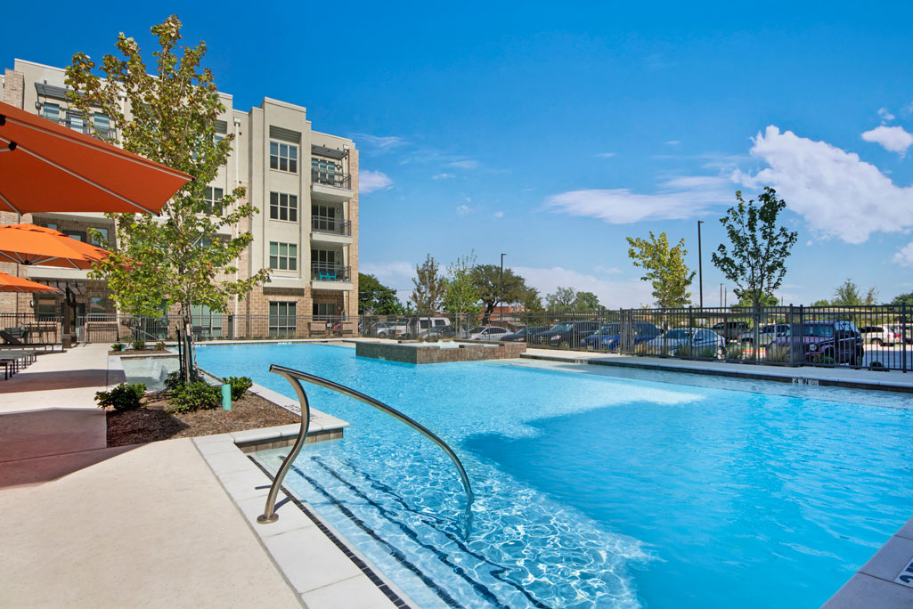 Large Pool at City Square Lofts Apartments in Garland, TX
