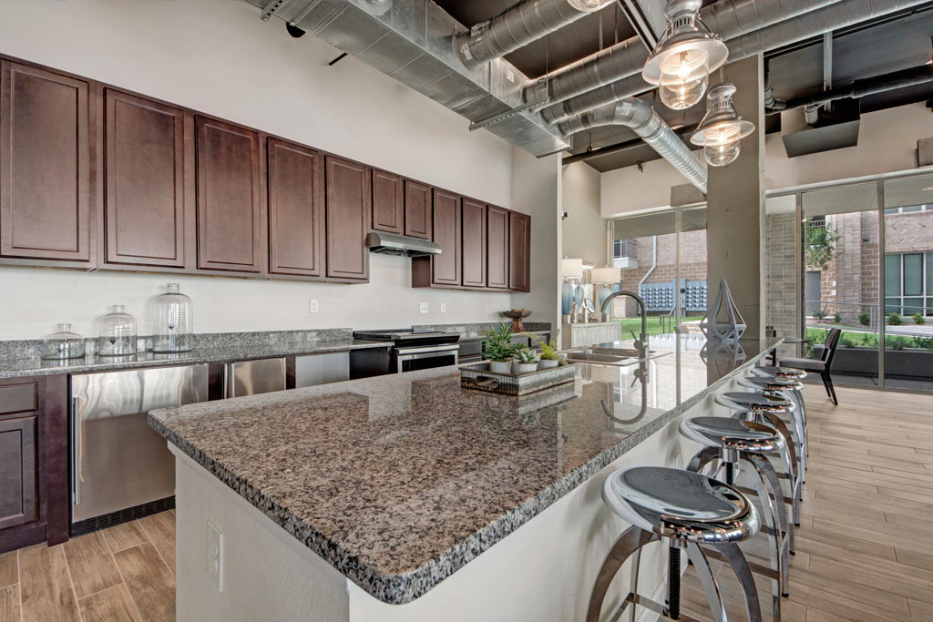 Kitchen at City Square Lofts Apartments in Garland, TX