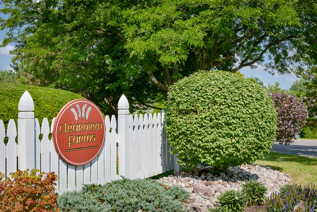 Property Sign at the Clearview Farms Apartments and Townhouses in Scottsville, NY