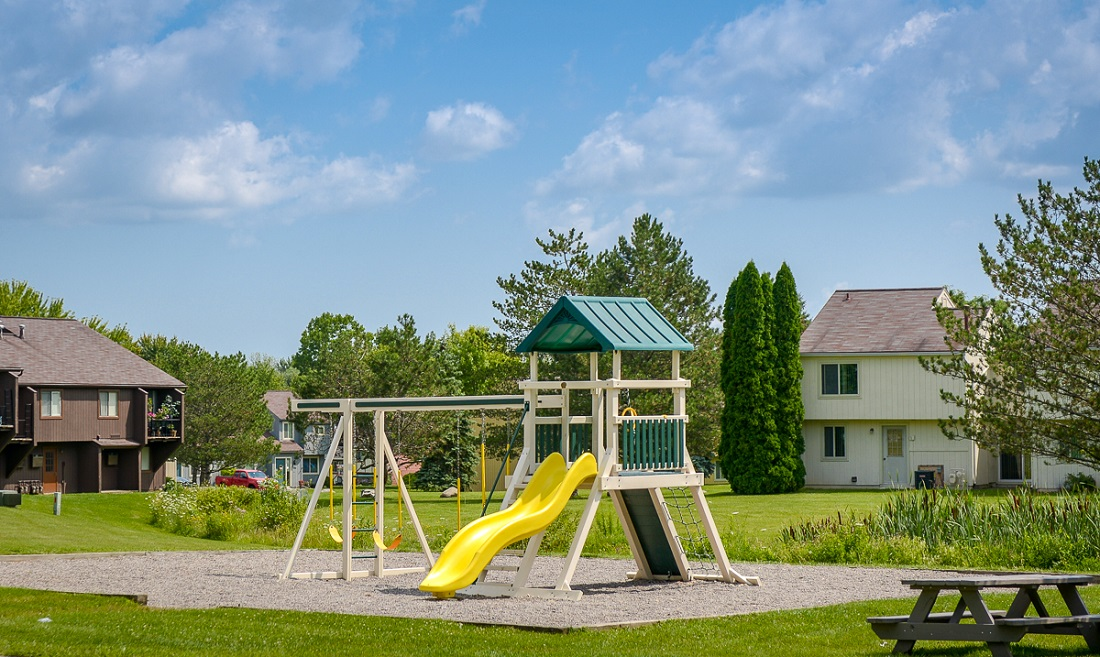 Playground at the Clearview Farms Apartments and Townhouses in Scottsville, NY