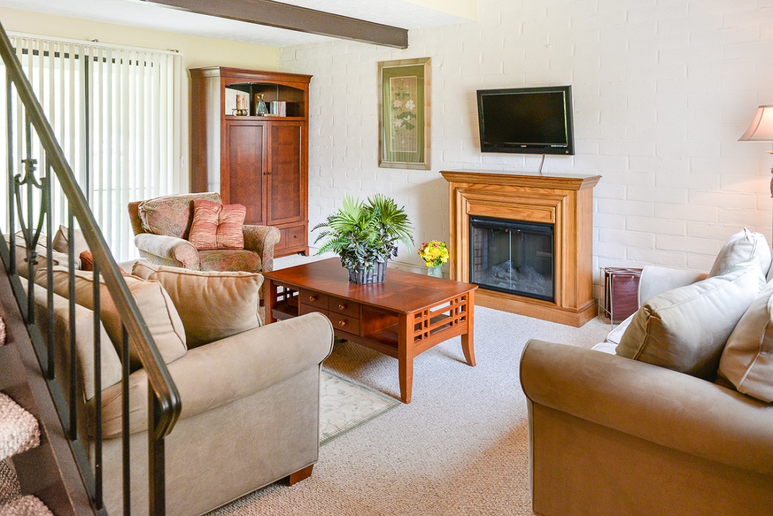 Living Room at the Clearview Farms Apartments and Townhouses in Scottsville, NY