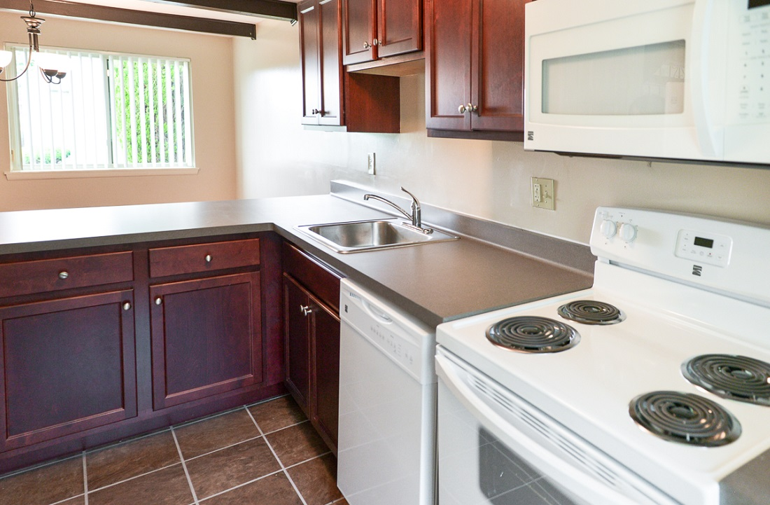Kitchen Interior at the Clearview Farms Apartments and Townhouses in Scottsville, NY