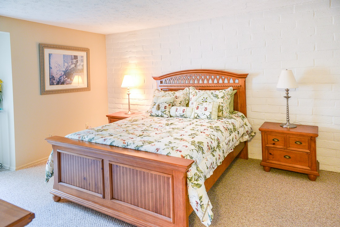 Bedroom at the Clearview Farms Apartments and Townhouses in Scottsville, NY