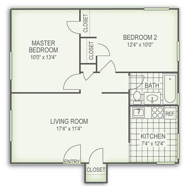 Floorplan - 2 Bed image