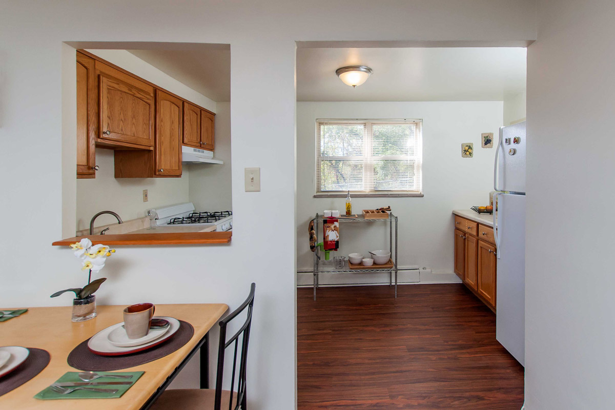Dining and Kitchen at Cloverleaf Village Apartments in Pittsburgh, PA