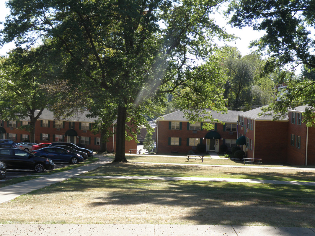 Exterior View at Cloverleaf Village Apartments in Pittsburgh, PA