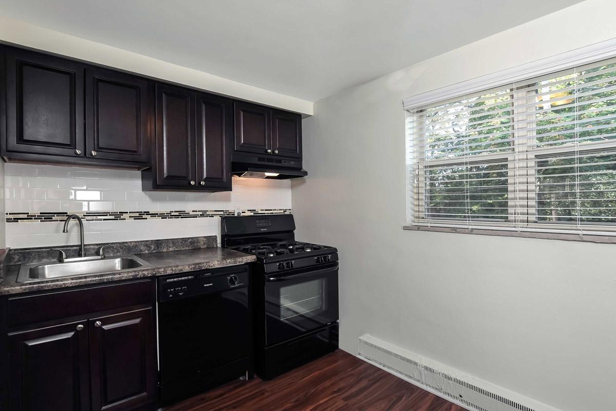 Modern Kitchen at Cloverleaf Village Apartments in Pittsburgh, PA