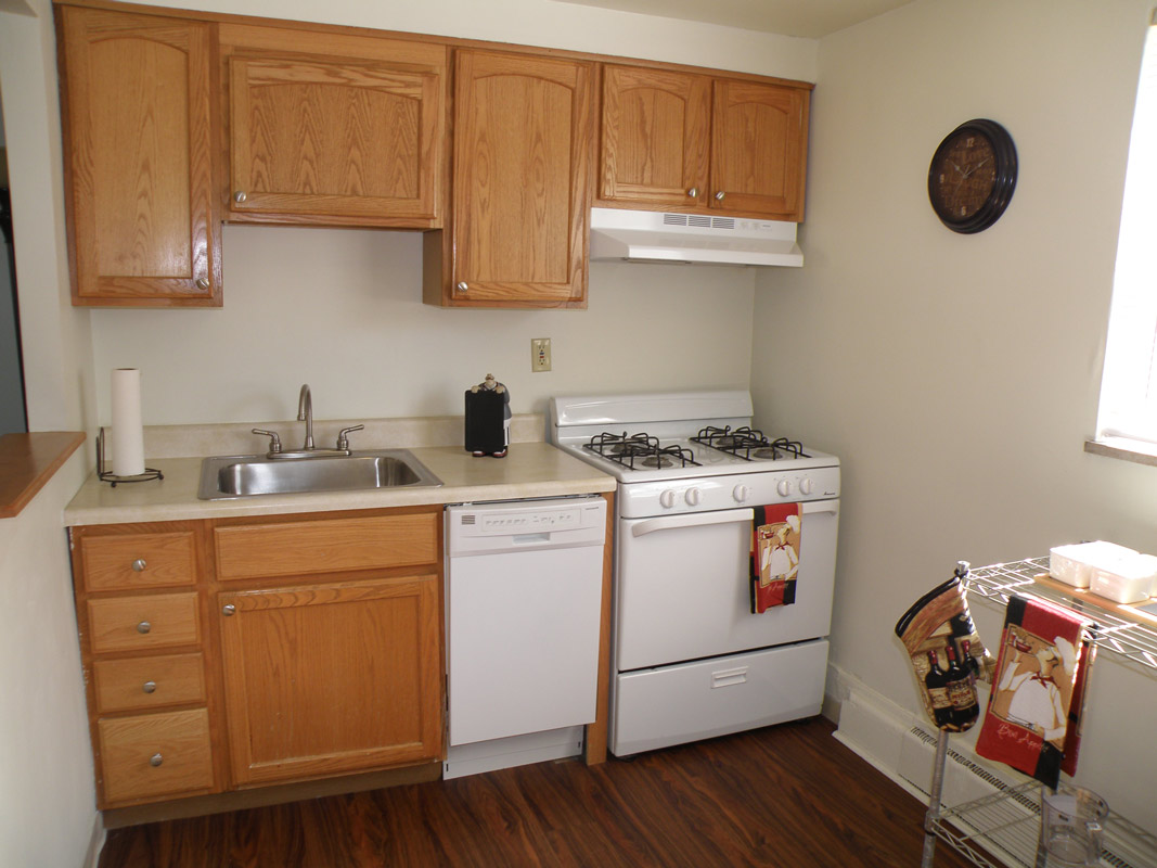 Kitchen Area at Cloverleaf Village Apartments in Pittsburgh, PA