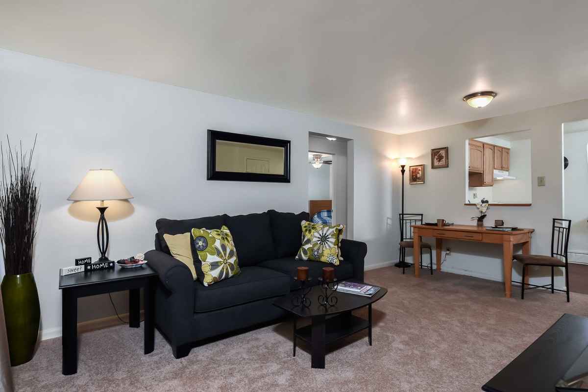 Spacious Interior at Cloverleaf Village Apartments in Pittsburgh, PA