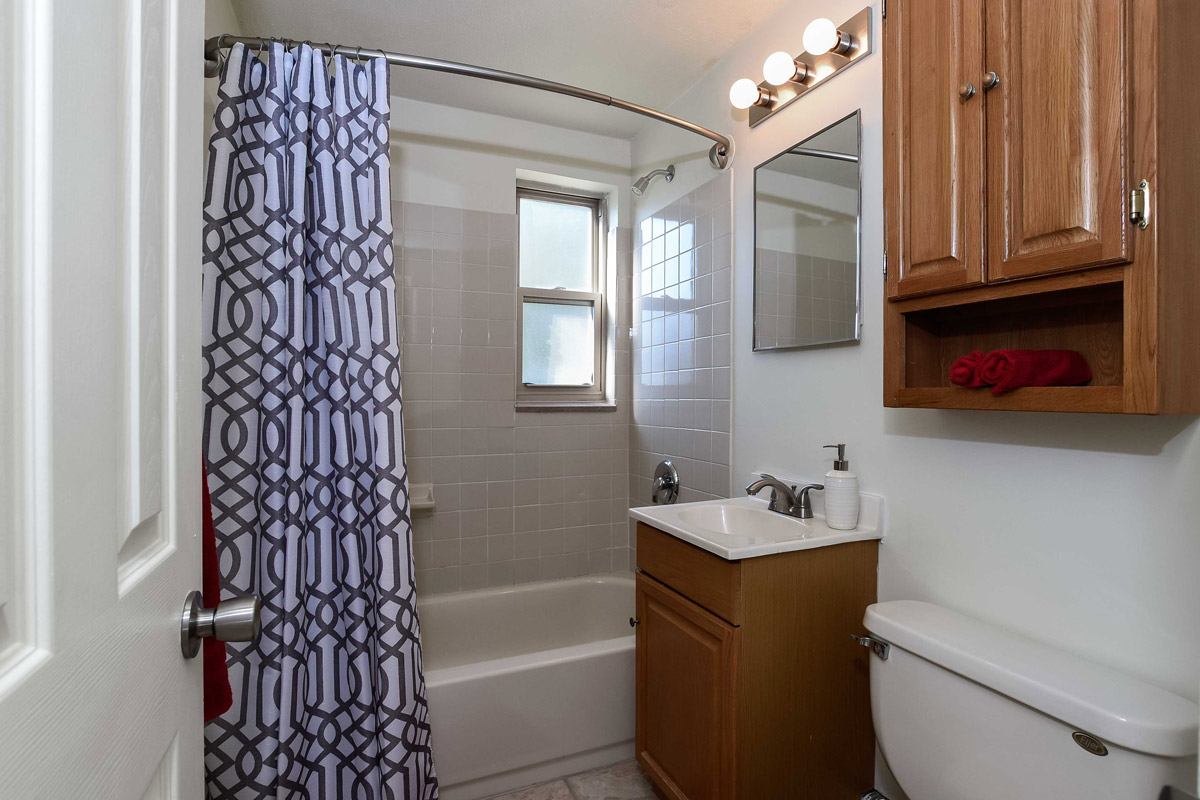 Apartment Bathroom at Cloverleaf Village Apartments in Pittsburgh, PA
