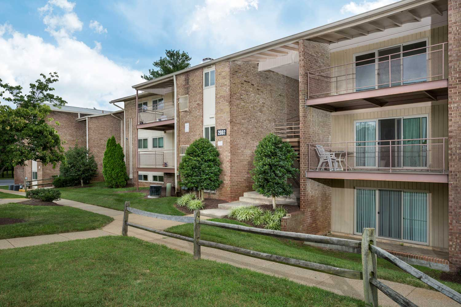 Extra spacious balcony or patio at Columbia Park Apartments in Landover, MD