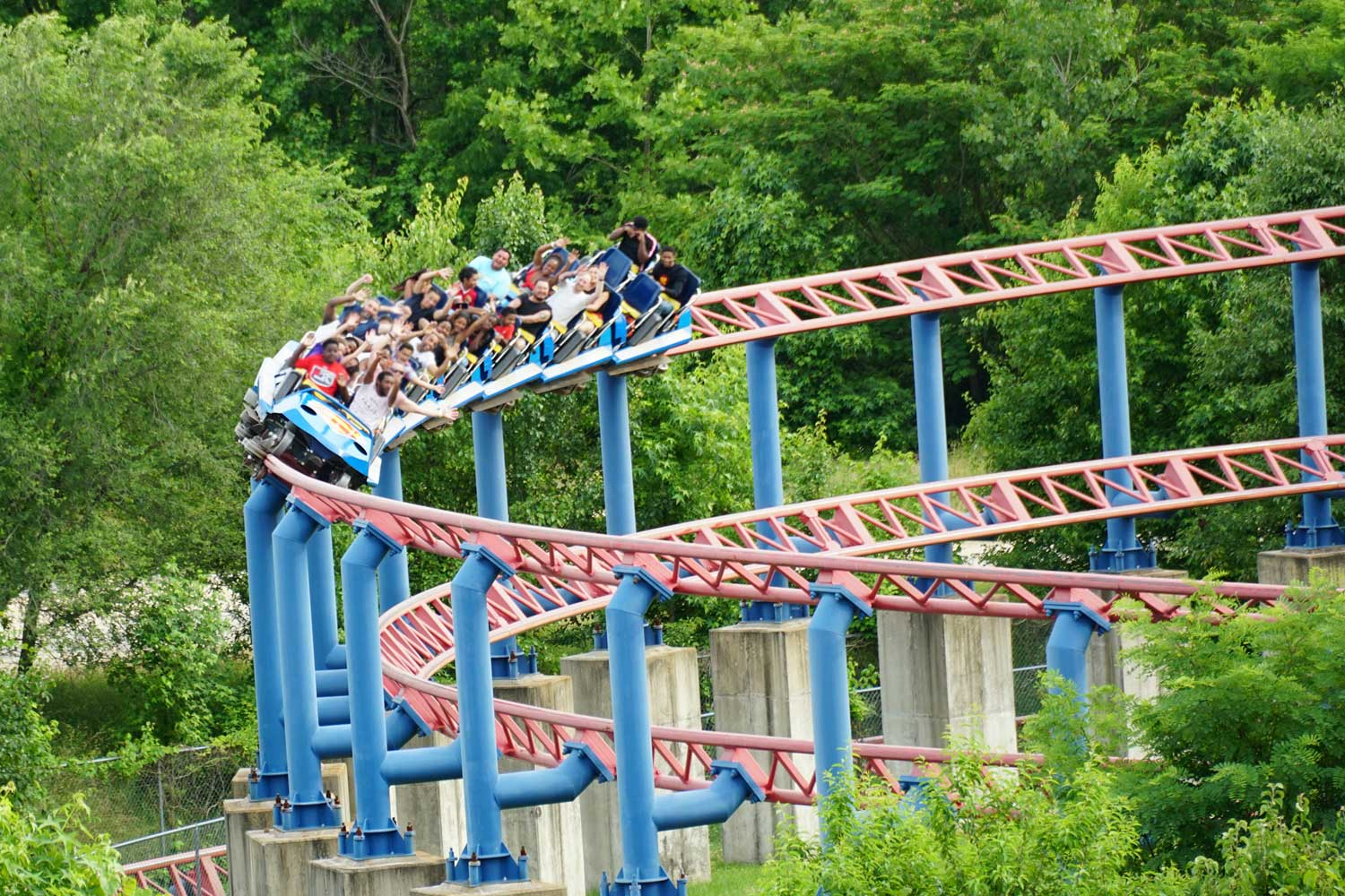 Six Flags America is 15 minutes from Columbia Park Apartments in Landover, MD
