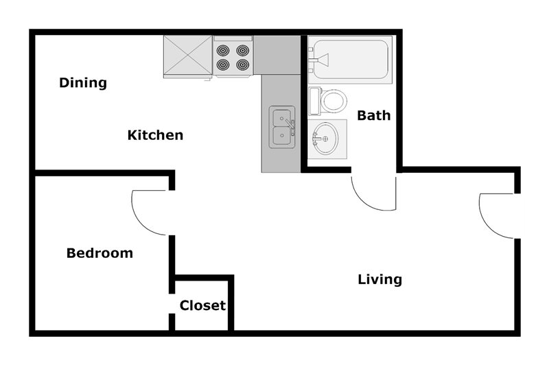 Columbia Villas Apartments - Floorplan - A2