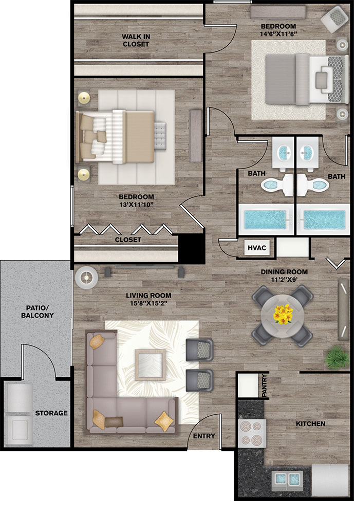 The Connally Apartments - Floorplan - Bowden