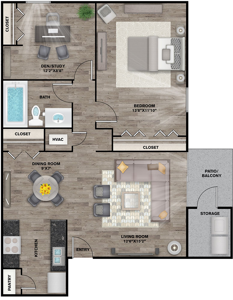 Floorplan - Stanford image